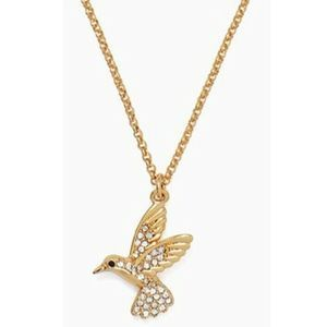 KATE SPADE Grandmas Closet Hummingbird Necklace